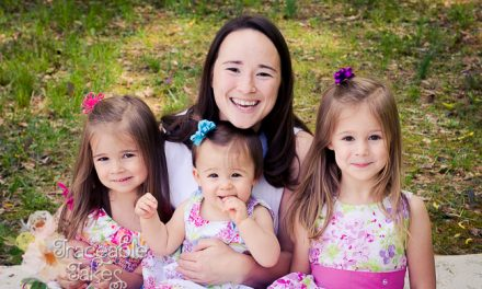 Mommy & Me with Three Sweet Little Girls