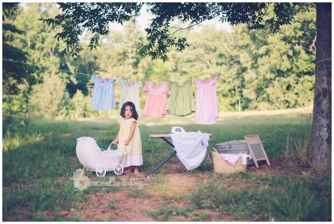 Laundry Day {Rebekah with Mamama's dresses}