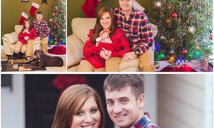 Sweet baby's 1st Christmas – a newborn lifestyle shoot