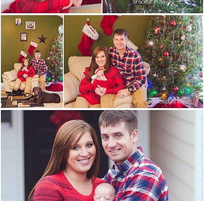 Sweet baby's 1st Christmas – a newborn lifestyle shoot